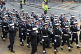 Lord Mayor's Show 2012: Entry 87 - Royal Navy (HMS Collingwood).. Press stand opposite Mansion House, City of London, London, Greater London, United Kingdom, on 10 November 2012 at 11:38, image #1149