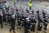 Lord Mayor's Show 2012: Entry 87 - Royal Navy (HMS Collingwood).. Press stand opposite Mansion House, City of London, London, Greater London, United Kingdom, on 10 November 2012 at 11:38, image #1150