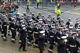 Lord Mayor's Show 2012: Entry 87 - Royal Navy (HMS Collingwood).. Press stand opposite Mansion House, City of London, London, Greater London, United Kingdom, on 10 November 2012 at 11:38, image #1152