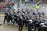 Lord Mayor's Show 2012: Entry 87 - Royal Navy (HMS Collingwood).. Press stand opposite Mansion House, City of London, London, Greater London, United Kingdom, on 10 November 2012 at 11:38, image #1153