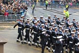 Lord Mayor's Show 2012: Entry 87 - Royal Navy (HMS Collingwood).. Press stand opposite Mansion House, City of London, London, Greater London, United Kingdom, on 10 November 2012 at 11:38, image #1154