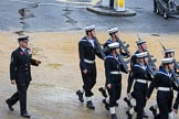 Lord Mayor's Show 2012: Entry 89 - RNR London Division (HMS President).. Press stand opposite Mansion House, City of London, London, Greater London, United Kingdom, on 10 November 2012 at 11:39, image #1171