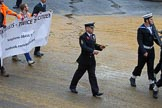 Lord Mayor's Show 2012: Entry 90 - Royal Marines Reserve (City of London).. Press stand opposite Mansion House, City of London, London, Greater London, United Kingdom, on 10 November 2012 at 11:39, image #1172