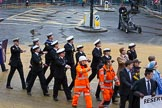 Lord Mayor's Show 2012: Entry 90 - Royal Marines Reserve (City of London).. Press stand opposite Mansion House, City of London, London, Greater London, United Kingdom, on 10 November 2012 at 11:39, image #1178