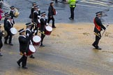 Lord Mayor's Show 2012: Entry 92 - St John Ambulance Talbot Corps of Drums.. Press stand opposite Mansion House, City of London, London, Greater London, United Kingdom, on 10 November 2012 at 11:40, image #1206