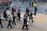 Lord Mayor's Show 2012: Entry 92 - St John Ambulance Talbot Corps of Drums.. Press stand opposite Mansion House, City of London, London, Greater London, United Kingdom, on 10 November 2012 at 11:40, image #1207