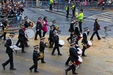 Lord Mayor's Show 2012: Entry 92 - St John Ambulance Talbot Corps of Drums.. Press stand opposite Mansion House, City of London, London, Greater London, United Kingdom, on 10 November 2012 at 11:40, image #1208