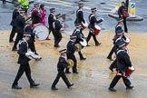 Lord Mayor's Show 2012: Entry 92 - St John Ambulance Talbot Corps of Drums.. Press stand opposite Mansion House, City of London, London, Greater London, United Kingdom, on 10 November 2012 at 11:40, image #1210