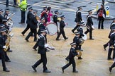 Lord Mayor's Show 2012: Entry 92 - St John Ambulance Talbot Corps of Drums.. Press stand opposite Mansion House, City of London, London, Greater London, United Kingdom, on 10 November 2012 at 11:40, image #1211