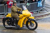 Lord Mayor's Show 2012: Entry 97 - AA, the Automobile Association, with a 1961 BSA M21 Combination motorcycle and sidecar.. Press stand opposite Mansion House, City of London, London, Greater London, United Kingdom, on 10 November 2012 at 11:43, image #1274