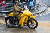 Lord Mayor's Show 2012: Entry 97 - AA, the Automobile Association, with a 1961 BSA M21 Combination motorcycle and sidecar.. Press stand opposite Mansion House, City of London, London, Greater London, United Kingdom, on 10 November 2012 at 11:43, image #1275