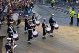 Lord Mayor's Show 2012: Entry 98 - Sea Cadet Corps Band.. Press stand opposite Mansion House, City of London, London, Greater London, United Kingdom, on 10 November 2012 at 11:45, image #1303
