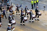 Lord Mayor's Show 2012: Entry 98 - Sea Cadet Corps Band.. Press stand opposite Mansion House, City of London, London, Greater London, United Kingdom, on 10 November 2012 at 11:45, image #1304
