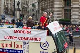 Lord Mayor's Show 2012: Entrry 104 - Modern Livery Companies, representing 26 Livery Companies.. Press stand opposite Mansion House, City of London, London, Greater London, United Kingdom, on 10 November 2012 at 11:50, image #1405