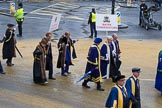 Lord Mayor's Show 2012: Entrry 104 - Modern Livery Companies, representing 26 Livery Companies.. Press stand opposite Mansion House, City of London, London, Greater London, United Kingdom, on 10 November 2012 at 11:51, image #1429
