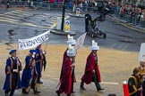 Lord Mayor's Show 2012: Entrry 104 - Modern Livery Companies, representing 26 Livery Companies.. Press stand opposite Mansion House, City of London, London, Greater London, United Kingdom, on 10 November 2012 at 11:51, image #1436