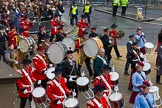 Lord Mayor's Show 2012: Entry 105 - Corps of Drums Society.. Press stand opposite Mansion House, City of London, London, Greater London, United Kingdom, on 10 November 2012 at 11:53, image #1470