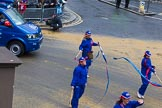 Lord Mayor's Show 2012: Entry 107 - Pimlico Plumbers.. Press stand opposite Mansion House, City of London, London, Greater London, United Kingdom, on 10 November 2012 at 11:54, image #1533