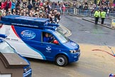 Lord Mayor's Show 2012: Entry 107 - Pimlico Plumbers.. Press stand opposite Mansion House, City of London, London, Greater London, United Kingdom, on 10 November 2012 at 11:54, image #1534