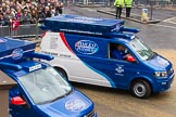 Lord Mayor's Show 2012: Entry 107 - Pimlico Plumbers.. Press stand opposite Mansion House, City of London, London, Greater London, United Kingdom, on 10 November 2012 at 11:54, image #1535