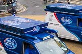 Lord Mayor's Show 2012: Entry 107 - Pimlico Plumbers.. Press stand opposite Mansion House, City of London, London, Greater London, United Kingdom, on 10 November 2012 at 11:54, image #1536