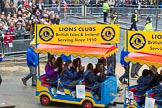 Lord Mayor's Show 2012: Entry 110 - Lions Clubs International.. Press stand opposite Mansion House, City of London, London, Greater London, United Kingdom, on 10 November 2012 at 11:55, image #1573