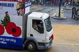 Lord Mayor's Show 2012: Entry 112 - Royal British Legion.. Press stand opposite Mansion House, City of London, London, Greater London, United Kingdom, on 10 November 2012 at 11:57, image #1616