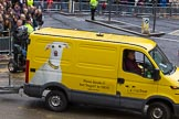 Lord Mayor's Show 2012: Entry 114 - Dogs Trust.. Press stand opposite Mansion House, City of London, London, Greater London, United Kingdom, on 10 November 2012 at 11:58, image #1652
