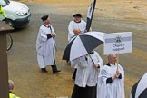 Lord Mayor's Show 2012: Entry 121 - Worshipful Company of Parish Clerks.. Press stand opposite Mansion House, City of London, London, Greater London, United Kingdom, on 10 November 2012 at 12:01, image #1735
