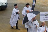 Lord Mayor's Show 2012: Entry 121 - Worshipful Company of Parish Clerks.. Press stand opposite Mansion House, City of London, London, Greater London, United Kingdom, on 10 November 2012 at 12:01, image #1736