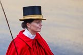 Lord Mayor's Show 2012: The Royal Mews's Lady Coachman Phillipa Jackson.. Press stand opposite Mansion House, City of London, London, Greater London, United Kingdom, on 10 November 2012 at 12:05, image #1849