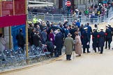 Lord Mayor's Show 2012: Guests leaving Masnion House after the 2012 Lord Mayor's Show.. Press stand opposite Mansion House, City of London, London, Greater London, United Kingdom, on 10 November 2012 at 12:15, image #1957