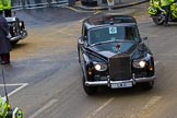 Lord Mayor's Show 2012: The Rolls Royce, registration LMO, leaving with a police escort.. Press stand opposite Mansion House, City of London, London, Greater London, United Kingdom, on 10 November 2012 at 12:15, image #1960
