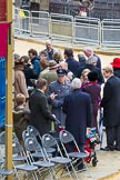 Lord Mayor's Show 2012: Guests leaving Masnion House after the 2012 Lord Mayor's Show.. Press stand opposite Mansion House, City of London, London, Greater London, United Kingdom, on 10 November 2012 at 12:16, image #1961