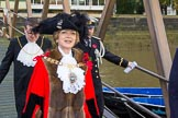 Lord Mayor's Show 2013: The Lord Mayor, Alderman Fiona Woolf, at Westminster Boating Base, just before boarding Gloriana. Photo by Mike Garland..     on 09 November 2013 at 08:34, image #7
