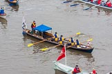 Lord Mayor's Show 2013: The Lord Mayor's flotilla, here cutter 'Princess Nausicaa', crewed by the Launderers' Company. Photo be Mike Garland..     on 09 November 2013 at 09:16, image #33