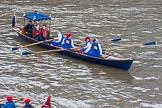 Lord Mayor's Show 2013: The Lord Mayor's flotilla, here cutter 'Centurion', crewed by the Port of London Authority (PLA). Photo be Mike Garland..     on 09 November 2013 at 09:16, image #37