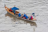 Lord Mayor's Show 2013: The Lord Mayor's flotilla, here cutter 'George Williams', crewed by the Scientific Intrument Makers Co. Photo be Mike Garland..     on 09 November 2013 at 09:16, image #38