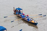 Lord Mayor's Show 2013: The Lord Mayor's flotilla, here cutter 'Penelope', crewed by the Port of London Authority (PLA). Photo be Mike Garland..     on 09 November 2013 at 09:17, image #39