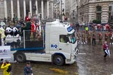 Lord Mayor's Show 2013: 6-Worshipful Company of Grocers- The Spice of Life, represented by the Coldstream Guards, G Company 7th Rifles and participants from Oundle School and Mossbourne Academy.. Press stand opposite Mansion House, City of London, London, Greater London, United Kingdom, on 09 November 2013 at 11:02, image #172