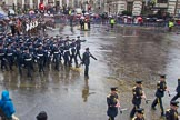 Lord Mayor's Show 2013: 16-Royal Air Force- marching contingent includes Regular and Reserve personnel.. Press stand opposite Mansion House, City of London, London, Greater London, United Kingdom, on 09 November 2013 at 11:08, image #291