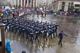 Lord Mayor's Show 2013: 16-Royal Air Force- marching contingent includes Regular and Reserve personnel.. Press stand opposite Mansion House, City of London, London, Greater London, United Kingdom, on 09 November 2013 at 11:08, image #292