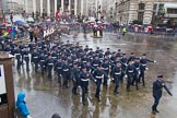 Lord Mayor's Show 2013: 16-Royal Air Force- marching contingent includes Regular and Reserve personnel.. Press stand opposite Mansion House, City of London, London, Greater London, United Kingdom, on 09 November 2013 at 11:08, image #293