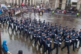 Lord Mayor's Show 2013: 16-Royal Air Force- marching contingent includes Regular and Reserve personnel.. Press stand opposite Mansion House, City of London, London, Greater London, United Kingdom, on 09 November 2013 at 11:08, image #294