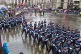Lord Mayor's Show 2013: 16-Royal Air Force- marching contingent includes Regular and Reserve personnel.. Press stand opposite Mansion House, City of London, London, Greater London, United Kingdom, on 09 November 2013 at 11:08, image #295