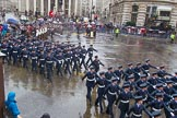 Lord Mayor's Show 2013: 16-Royal Air Force- marching contingent includes Regular and Reserve personnel.. Press stand opposite Mansion House, City of London, London, Greater London, United Kingdom, on 09 November 2013 at 11:08, image #296