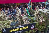 Lord Mayor's Show 2013: 31-F & G Companies, 7th Battalion The Rifles- reserve infantry battalion with Companies in London and the Home Counties.. Press stand opposite Mansion House, City of London, London, Greater London, United Kingdom, on 09 November 2013 at 11:16, image #416
