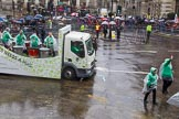Lord Mayor's Show 2013: 40-Keele University-is proud to be supporting their alumna and honorary graduate the Lord Mayor of London Fiona Woolf.. Press stand opposite Mansion House, City of London, London, Greater London, United Kingdom, on 09 November 2013 at 11:22, image #506