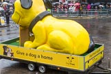 Lord Mayor's Show 2013: 45-Dog Trust- UK's largest dog-welfare charity, which care for more then 16,000 dogs per year.. Press stand opposite Mansion House, City of London, London, Greater London, United Kingdom, on 09 November 2013 at 11:24, image #573