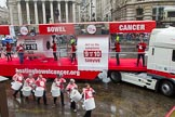 Lord Mayor's Show 2013: 50-Beating Bowel Cancer-are here to raise awareness and promote early diagnosis.. Press stand opposite Mansion House, City of London, London, Greater London, United Kingdom, on 09 November 2013 at 11:28, image #660